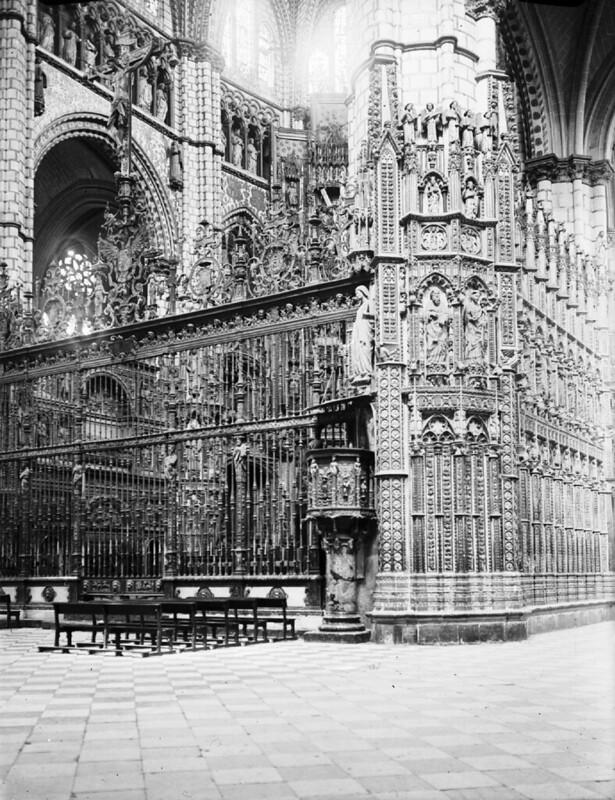 Catedral de Toledo en los años 20. Fotografía de Otto Wünderlich. © Fototeca del Patrimonio Histórico