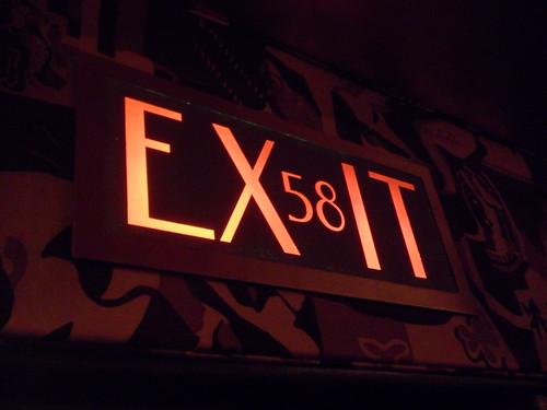 Radio City Music Hall exit sign