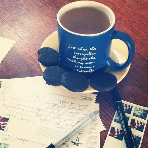 Postcard writer