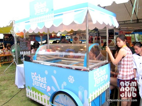 Picket Fence Ice Cream Cart