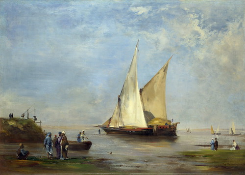 Eugene Fromentin - The Banks of the Nile [1874] by Gandalf's Gallery