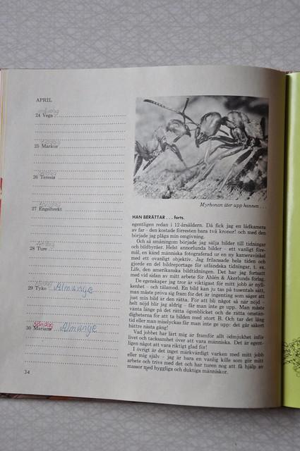 Evas kalender april 1967