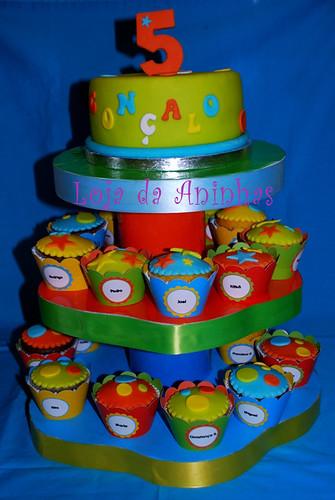 Torre de cupcakes Gonçalo by Aninhas_lisboa