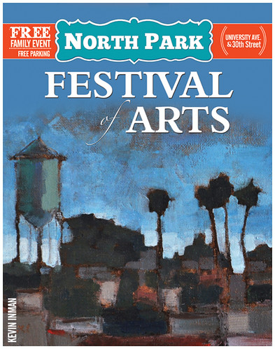 Kevin Inman's painting on the North Park Festival Poster, San Diego, California