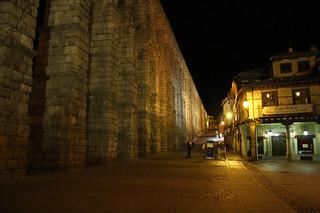 Bild av Acueducto de Segovia nära Segovia.