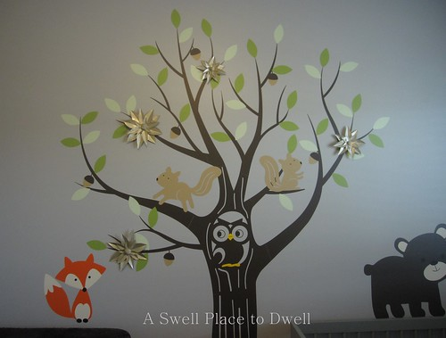 Paper Posies on Tree Wall Decal
