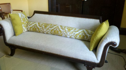 Rob's Sofa with Bolster and Pillows