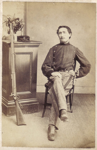 Canterbury Militia member from c1860s name unknow
