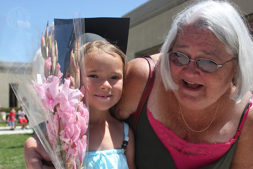 posing with Grandma