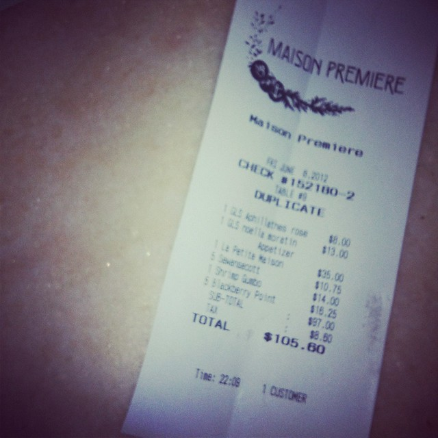 fancy food friday: maison premiere check