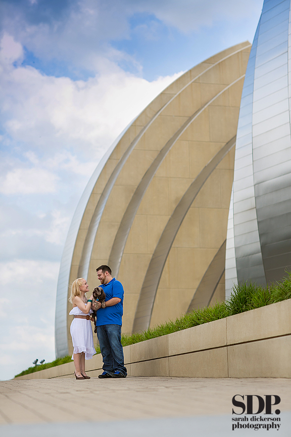 Kansas City Kauffman Performing Arts Center engagement session