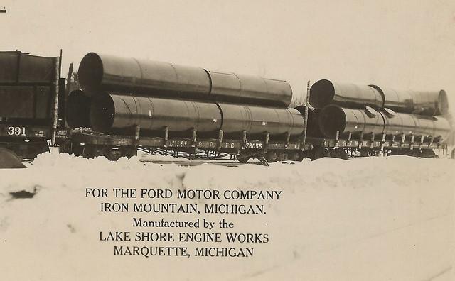 Up Marquette Iron Mt Mi Rppc Railroad Carloads To Ford