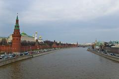 Vue sur le Kremlin et la Moskova depuis le Pont Bolshoy Kamenny