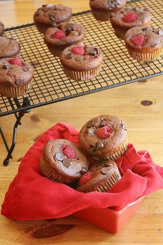 chocolate-raspberry muffins.