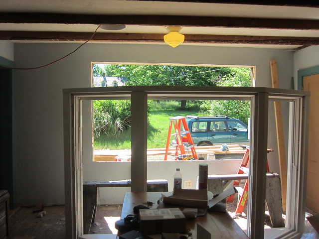 New bay window installation flickr photo sharing for Bay window installation