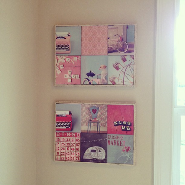 More wall decoration up in my sewing room!