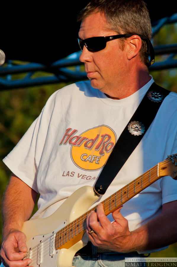 The Fog Blues Band guitarist - 2012 Relay for Life - Sanford, NC