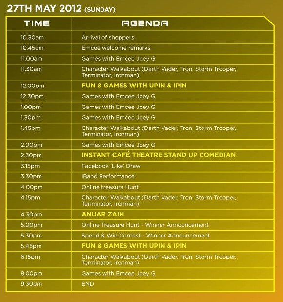 PIKOM ICT MALL CAPSQUARE Grand Launch 27 May Schedule