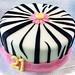 Zebra 21st Bday Cake - <span>www.cupcakebite.com</span>