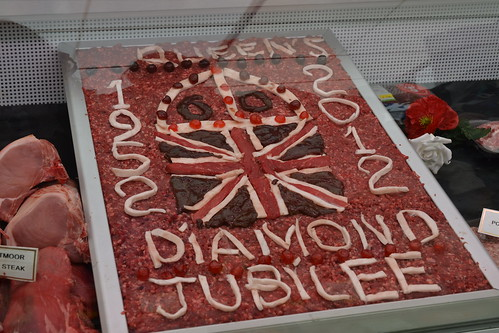 jubilee art made from meat. of course.