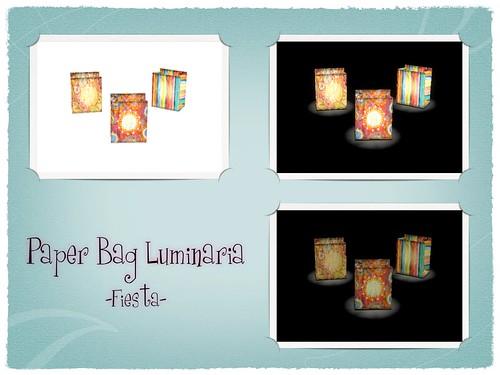 Zinnias- Paper Bag Luminaria: Fiesta