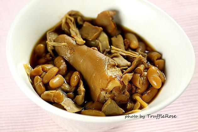 大白豆、筍乾燉豬尾-1205