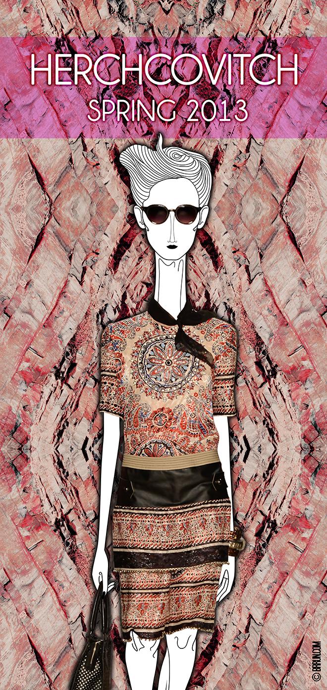 Herchcovitch, Spring 2013 – Fashion  Rio // Editor Chefe: Bruno Capasso // Texto: Brunno Almeida Maia // Ilustração: Leandro Dário // Foto: Beto Urrick // Arte: Tiago Gomes