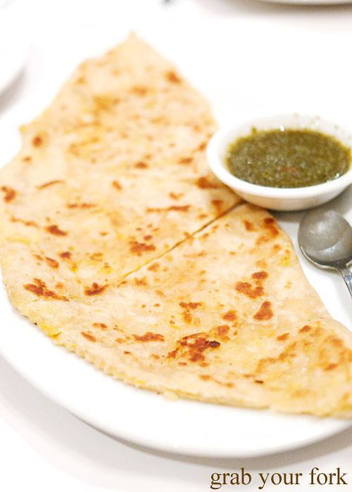 Kadoo bolanee Afghani flat bread at Bamiyan Restaurant, Five Dock