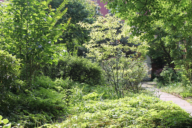 garden, The Church of St. Luke in the Fields, Hudson Street, Greenwich Village