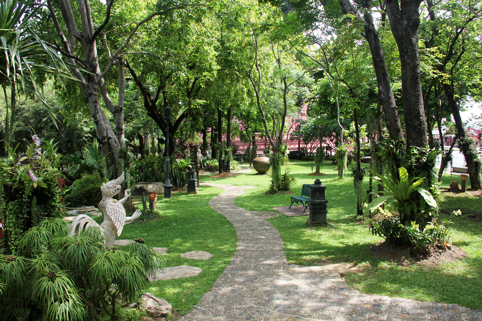 Beautiful Gardens at the Erawan Museum
