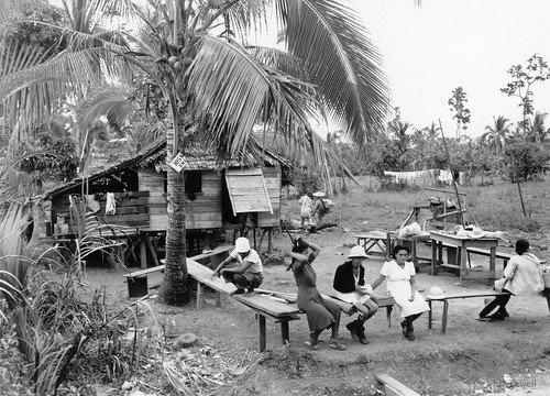 Daily life at a Filipino home, probably near Manila, Philippines 1945-1946