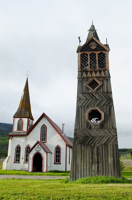 Bell tower and church