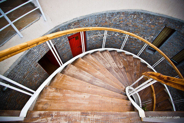 The Golden Spiral Staircase by Pranav Bhasin
