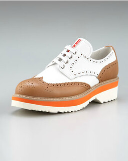 Prada Leather Lace-up Oxford NM Retail $590 on sale for $395