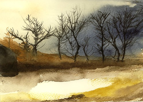 Hilgert's Grove Watercolor