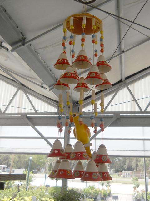 Yellow parakeet hanging decoration