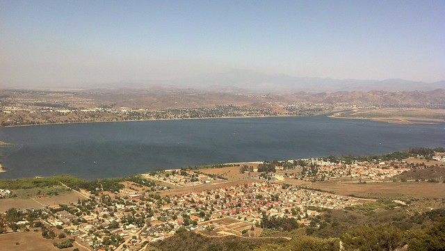 Lake Elsinore with Smog