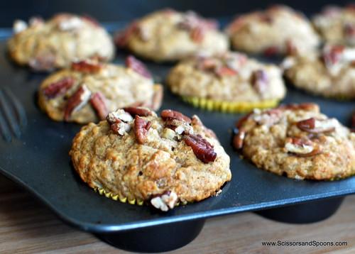 Banana Buttermilk Pecan Muffins