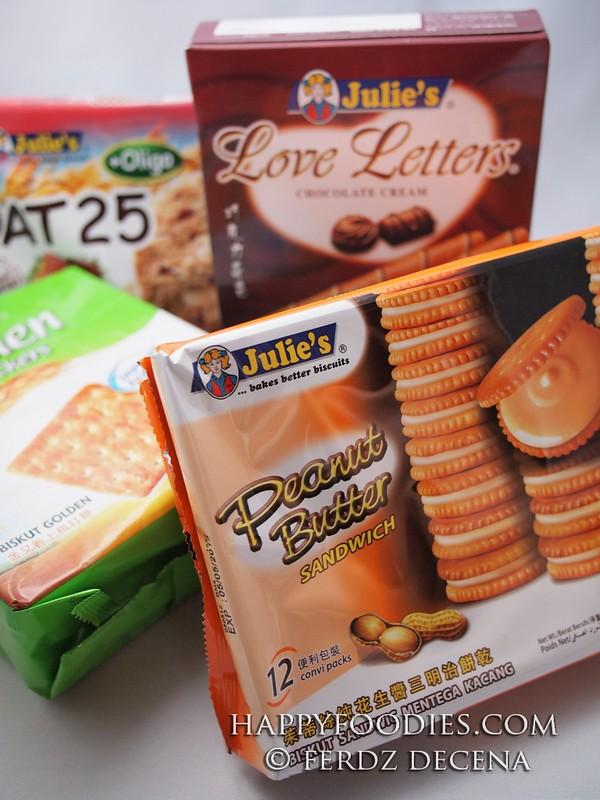 Julie's variety of biscuits