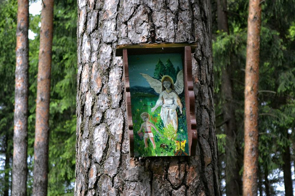 Schutzengelkiefer mit Heiligenbild