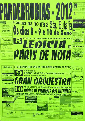 A Merca 2012 - Festas de Parderrubias - cartel