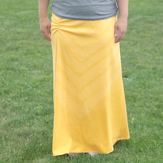 side ruched maxi skirt