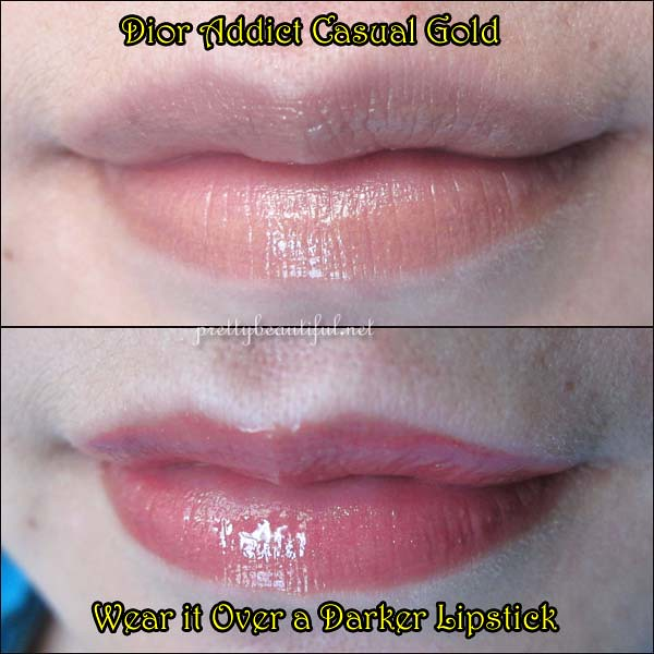 Dior Addict Lipstick - Casual Gold on Lips