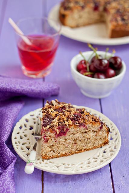 Cherry Walnut Cake