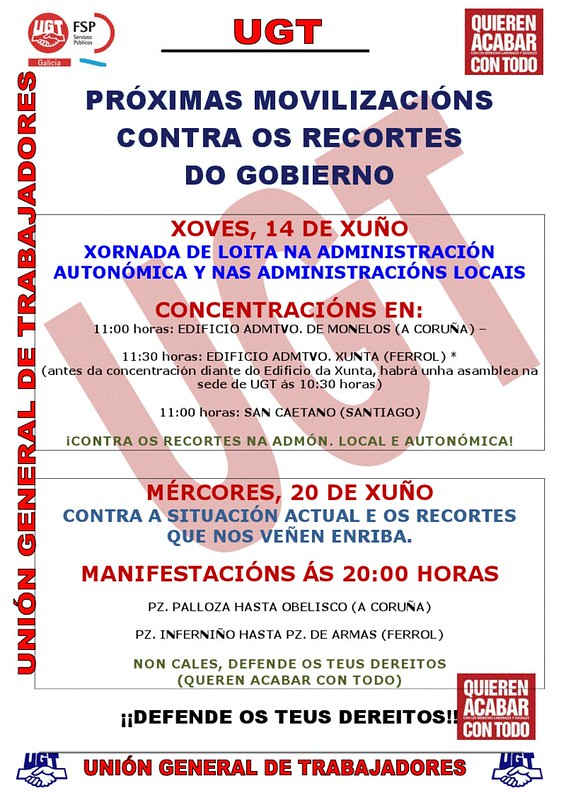 cartel movilizaciones ugt