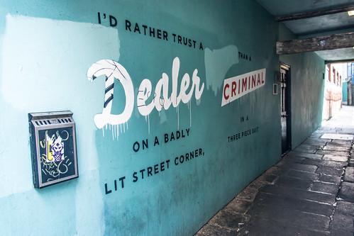 Street Art - Dublin (Narrow Lane Off East Essex Street) by infomatique