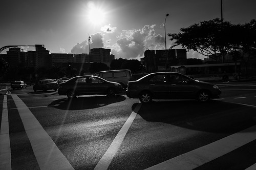 Cross junction at Tampines. Singapore 2012