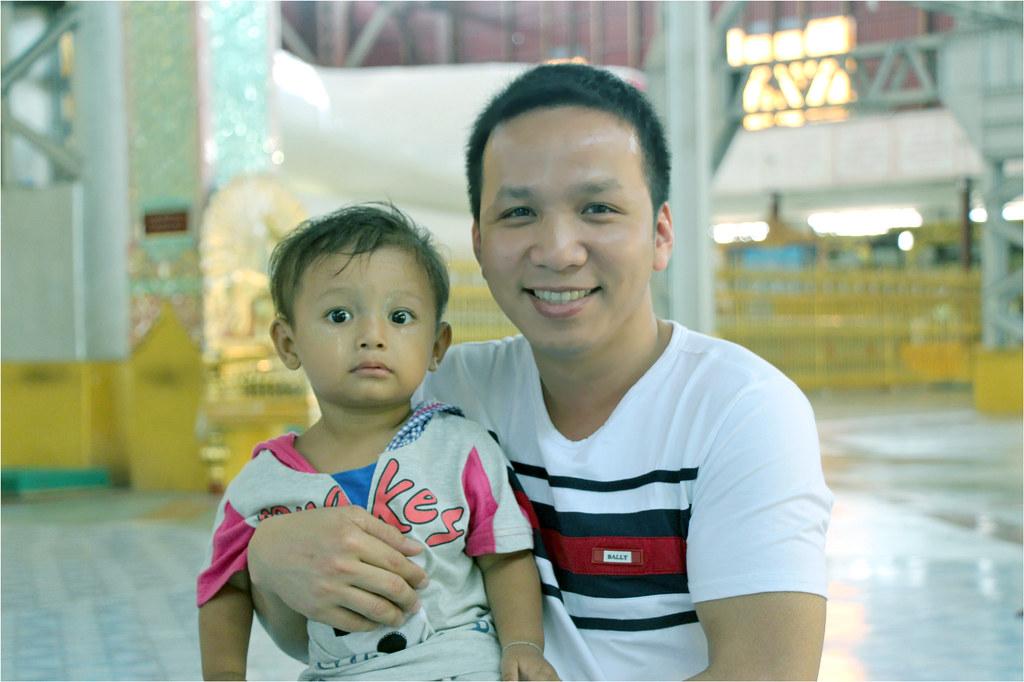 Hoang Phu and a Burmese boy