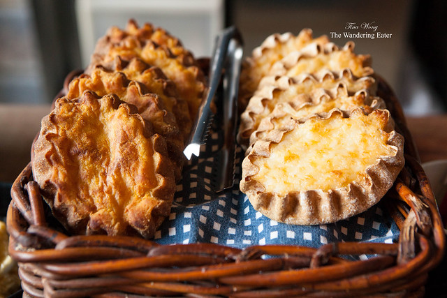 Karelian Pies (savory pies; the left one is filled with potato; right one is filled with rice)