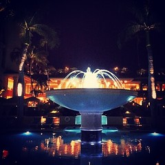 Bonne nuit! Bis Morgen! Ciao!   #IDrankALittleTooMuchDomPerignon #DomPerignon #fourseasonsmaui #night #rich #champagne #iamsolonely #hawaii #wailea #fountain #fancy